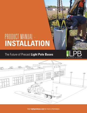 installing light pole bases