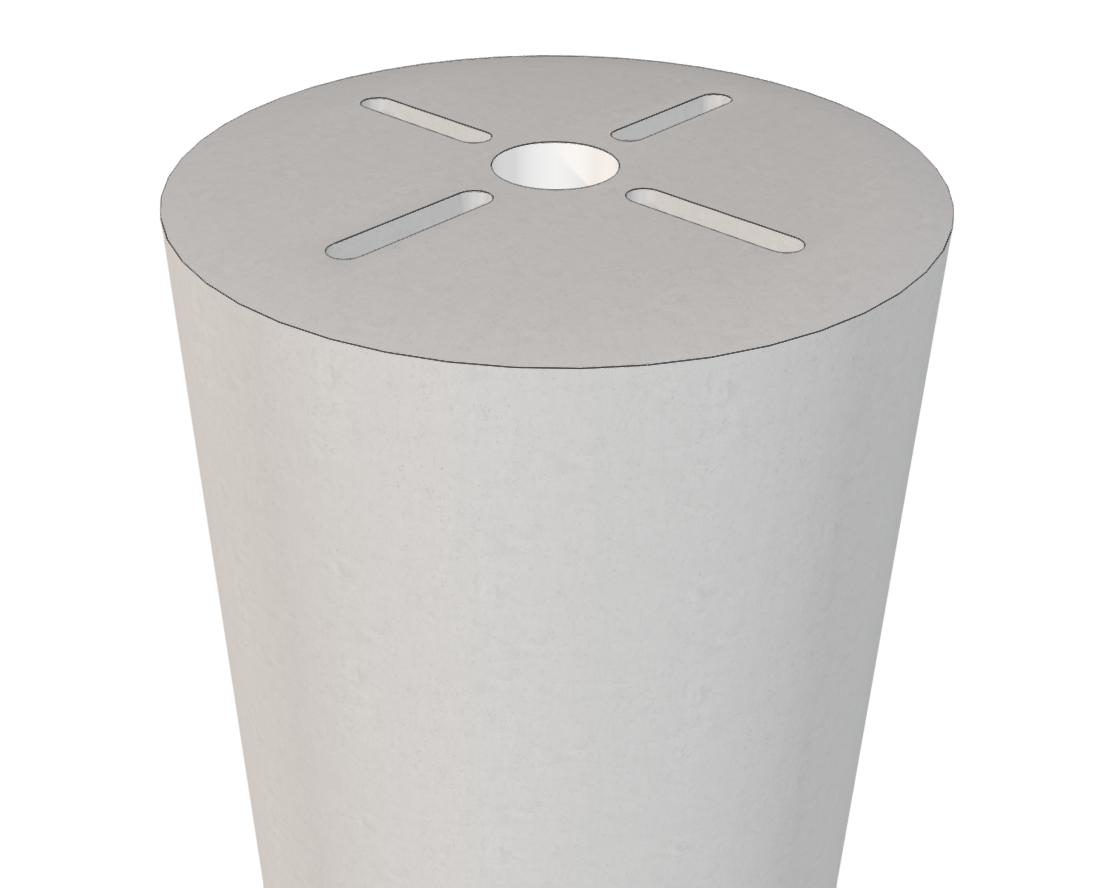 precast concrete light pole base with round-over